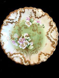 Antique porcelain LIMOGES plate 19 ct