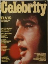 CELEBRITY magazine dec 1975 ELVIS PRESLEY COVER EX+ TOP COPY!!! The KING Of ROCK