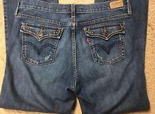 LEVIS 515 Womens Jeans size 8 M BOOT CUT Stretch Denim  Levi's Cute Pocket Flaps