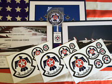 USAF THUNDERBIRDS 2010 2011 2012 3 Lithograph Set + BONUS Patch & Stickers!