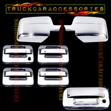 For FORD F150 2004-2007 2008 Chrome Covers Set Mirrors+4 Doors w/o+Tailgate KH
