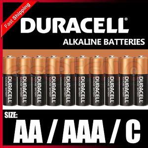Duracell AA AAA C Alkaline Batteries Battery LASTS UP TO 50% LONGER*
