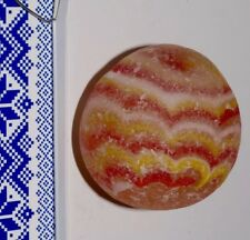 ☝❤ RARE ANTIQUE WAVES SUNSET RED YELLOW COLORS SEAGLASS MURANO