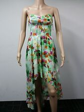 NEW - Guess - Size 2 - Strapless Polyester Dress - Printed - Multicolour $148
