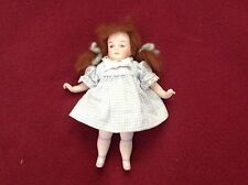 "6 1/2"" All Bisque Repro Doll - Painted Features - Movable Arms & Legs"