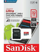 Sandisk 32GB Micro SDHC Class 10 Flash Memory Card Adapter mobile phones/cameras