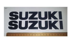 Suzuki tank sticker / decal pair. size 203mm x 30mm Black or plain colours
