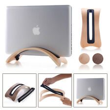 Color Beige Wood Arc Shape Stand Pad Holder Mount for MacBook Air/pro Laptop