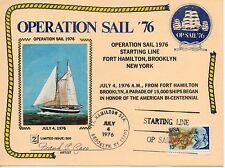 US FDC BI-CENT OPERATION SAIL SILKS 'ZASO' ART SIGNED JULY 4 1976 SHIP NAVY NY--