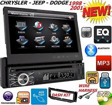 "98 99 00 01 CHRYSLER JEEP DODGE 7"" TOUCHSCREEN CD DVD BLUETOOTH CAR RADIO STEREO"