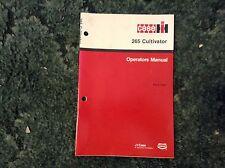 9-13550 - is a New Original Operators Manual for an IH 265 Cultivators