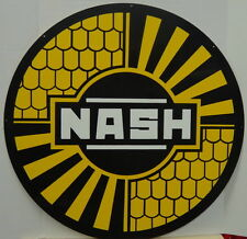 NASH Baked Enameled Sign (25 1/2 inches) by SIGNPAST in the U.S.A.