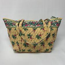 Vera Bradley Shoulder Handbag Yellow Hope Floral Roses X-Large Bag Retired