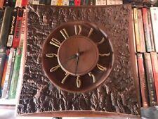 Vintage Burwood Products Wall Clock - Mid Century Modern Style - w/ Original Tag
