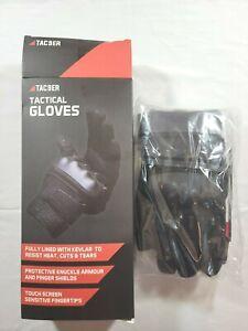 TAC9ER Kevlar Lined Tactical Gloves - Small, Black