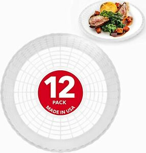 """Stock Your Home 9"""" Paper Plate Holder in White (12 Count)"""