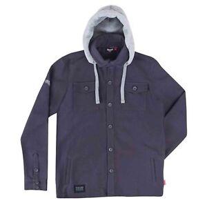 Victory Motorcycle New OEM Men's Grey Long Sleeve Hoodie Shirt - Pick Size