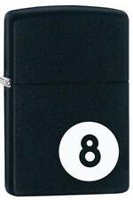 Zippo 28432 8 ball billiards black matte full size Lighter