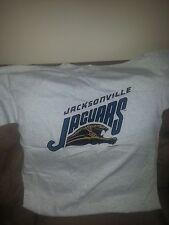 Jacksonville Jaguars Origina Logo ~ Graphic Tee 100% Cotton  Gray Size XL