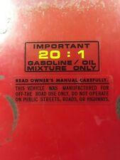 Honda ATC250R Tank Warning 1981 1982 1984 1983 84 83 82 81 ATC  Repro Decal