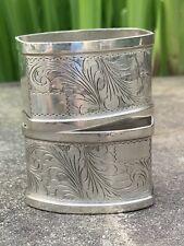 Pair of 800 Silver Oblong Napkin Rings, No Mono