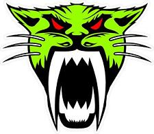 "#2167 4"" Arctic Cat Head  Decal Sticker Team Racing Snowmobile LAMINATED"