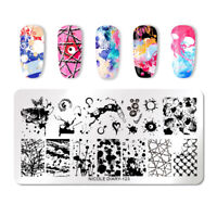 NICOLE DIARY Stamping Plates Rectangle Ink Art Series Nail Art Templates ND-123