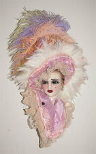 Unique Creations Victorian Lady Doll Bust Wall Mask Hanging Decor