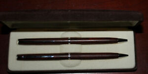 Vintage Hallmark Wood Pen and Pencil Set