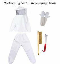 Beekeeping Supplies Suit Bee Keeper Jacket Veil Suit & Gloves and Bee Hive Tool