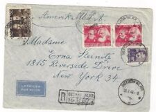 1949 Ostrow Wlkr Poland Registered Airmail to New York, #430, #432, #440