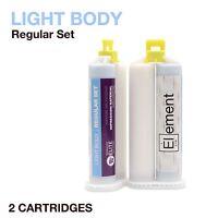 Element LIGHT BODY VPS PVS Impression Material REGULAR Set 2 X 50ML Dental