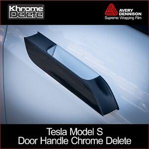 Chrome Delete Kit fitting the 2012-2020 Tesla Model S Door Handles