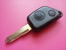 PEUGEOT 306 106 ETC 2 BUTTON REMOTE KEY FOB - UNCUT BLADE