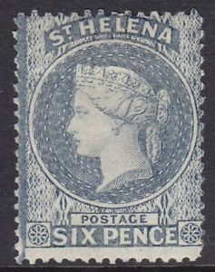 ST HELENA 1880 SG29 6d MILKY BLUE (TYPE B) MOUNTED MINT CV £550
