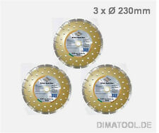 3x 230mm Cedima Beton Gold Star Diamanttrennscheibe Beton Naturstein