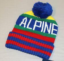 NWT Polo Ralph Lauren ALPINE Wool Beanie Hat Vtg Climb Hi Tech 92 93 Ski