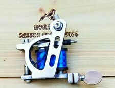 """FINE-LINER"" (NICKEL PLATED) BORDER TATTOO MACHINE,CUSTOM IRON FRAME 8 LAYER COI"