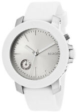 Nixon A317179 The Raider White Dial White Silicone Strap Women's Watch