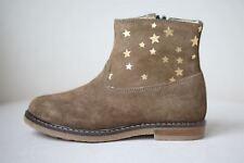 POM D'API filles en Daim Marron Voyage Imprimé Étoile Boots EU 25 UK 7.5