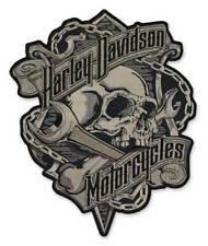 "Harley-Davidson Aufnäher, Emblem ""Grim Black & Gray"" Patch *EM341804*"