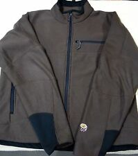 Mens Mountain Hardware Casual Textured Fleece Jacket  Size-Large Color-Brown