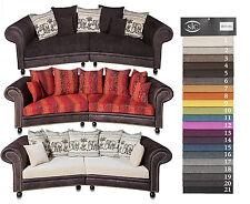 big sofa Möbel  Bigsofa  Kolonialstil Couch  320 cm MEGASOFA  + HOCKER  NEU!!