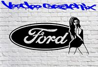 FORD RACING STICKERS Funny Car Window Ford Vinyl Sponsor Decals Bumper Van