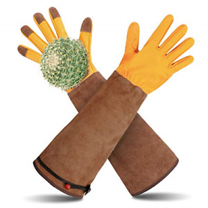 Long Gardening Gloves, Gardening Gauntlets Mens Rose Pruning Gloves for Men Size
