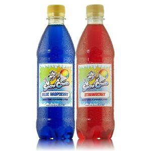 Slush Puppie / Snow Cone Syrup - 2 x 500ml Blue Raspberry & Strawberry !