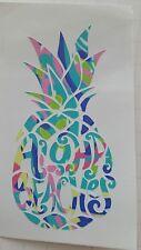 "Pineapple decal ""Aloha Beaches"" car mug cup decal 3,5 height Beach, Summer life."