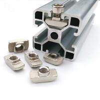 50Stk Hammer kopf Mutter Nutenstein Gleitmutter Innengewinde für T-Nut M3/M4/M5