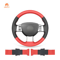 Black Red PU Leather Steering Wheel Cover Wrap for Altima 2005 2006 Maxima Quest