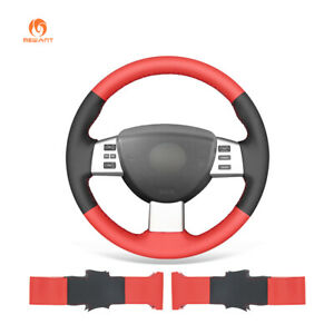 Black Red PU Leather Steering Wheel Cover Wrap for Nissan Altima Maxima Quest
